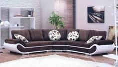 Optimal Microfiber Brown Sectional Sofa