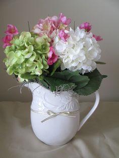 Elegant Spring Floral Arrangement, Easter Floral Arrangement, Mothers Day Floral Arrangement, Home Decor. $30.00, via Etsy.