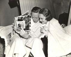 Leslie Howard and Olivia de Havilland on the set of It's Love I'm After