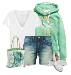 """""""J.Crew Tee"""" by cindycook10 ❤ liked on Polyvore featuring H&M, J.Crew, True Religion, TOMS and Sperry Top-Sider"""