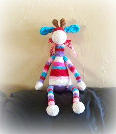 Crochet Giraffe Toy Striped Giraffe by ThePoppySeedShoppe on Etsy