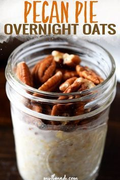 These healthy overnight oats in a jar taste like dessert in this easy on-the-go breakfast that you can make ahead as part of meal plan!