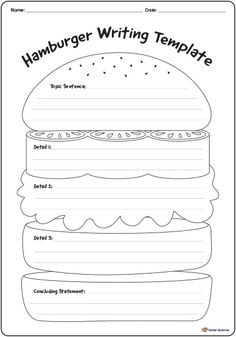 This is a great graphic organizer for students to learn paragraph writing especially younger ones. As a teacher, I would use this as a starting point or outline for students to write paragraphs until they can handle forming their own essays on their own. Writing Worksheets, Writing Lessons, Kids Writing, Teaching Writing, Writing Skills, Writing Activities, Writing Resources, 4th Grade Writing Prompts, Writing Rubrics