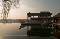 Marble Boat; Beijing China by Nadia & Casey Photography