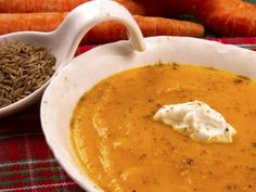 Velouté de carottes au cumin - Recette de cuisine Marmiton : une recette