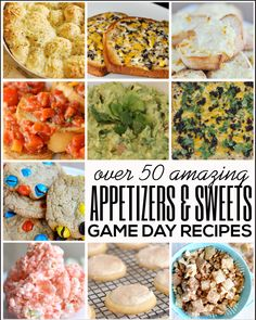 Gearing up for Sunday football? Here are some of our favorite game day recipes! Over 50 appetizers and sweets! Something for everyone. #Game...