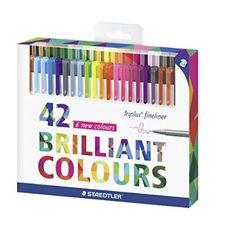 Staedtler Color Pen Set, 334C42 Set of 42 Assorted Colors (Triplus Fineliner Pens)