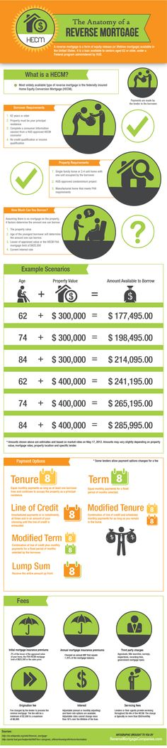 Anatomy of a Reverse Mortgage - Infographic. Need a #reverse #mortgage in #powellriver. Call me at 604-483-1718 or www.monicapeckford.com