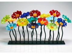 slumped flower centerpiece