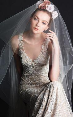 Watters Fall 2014 wedding dress #Wedding