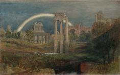 Joseph Mallord William Turner, 'View of the Forum, Rome, with a Rainbow' 1819 (J.M.W. Turner: Sketchbooks, Drawings and Watercolours) | Tate