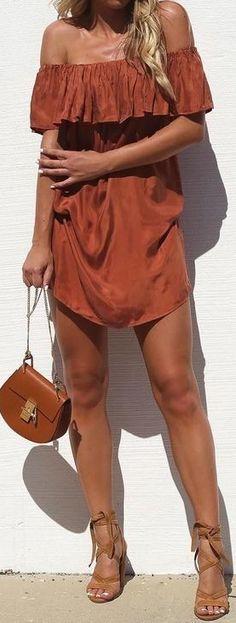 #summer #cool #outfits | Bardot Camel Dress
