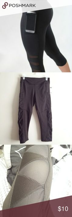 Stylish Athletic Pants Stylish Athletic Pants, brand new with tags. Has two pockets on sides (pockets are not see thru). A zig zag design down the sides with every other triangle being mesh to show the skin underneath, pockets are deep.   Note: the first picture is not this product! It's very similar but was used to represent function and fit. Pants