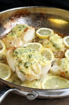 Roasted Cod with Garlic Lemon Butter
