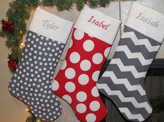 CHRISTMAS STOCKINGS Each Christmas Stocking by StitchforJoy