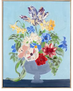 """Dutch- Inspired Still Life With Reds and Blues"" by Isabel Vexin""Dutch…"