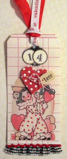 cute Valentine tag