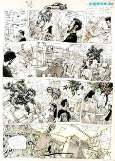 Original Kim JungGi Comic panels