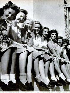 Penny loafer & bobby socks girls