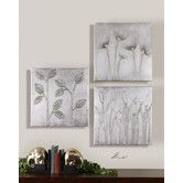 """Found it at Wayfair - Sterling Trio Canvas Wall Art By Eve - 20"""" x 20"""" (Set of 3)"""