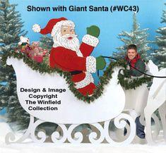 All Christmas - Gigantic Sleigh Wood Pattern Christmas Raindeer, Christmas Yard Art, Christmas Yard Decorations, Christmas Wood Crafts, Christmas Lights, Holiday Crafts, Christmas Crafts, Christmas Ornaments, Christmas Stuff