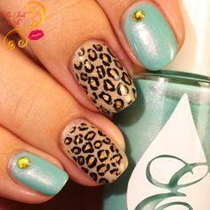 Zoo inspired nail art