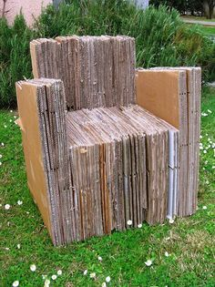 chair, recycle, cardboard, cijecam re-design
