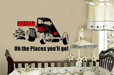 Personalized Sprint Racecar OH the PLaces You'll GO by wallstory, $28.00
