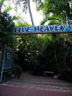 Blue Heaven in Key West, FL.... a favorite of mine! They have great brunch and I love the outdoor tables. Don't mind the chickens and the cats that roam free. Just save 'em a crumb or two :)