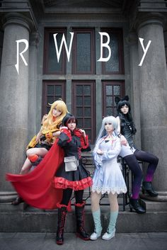 rwby cosplay girls Ruby rose weiss yang xiao long blake