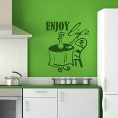 Cheap wall decals, Buy Quality flower wall sticker directly from China wall stickers kitchen decor Suppliers: DCTOP Enjoy Life A Table Chair And Flower Wall Sticker Kitchen Decoration DIY Removable Waterproof Home Wall Decal Diy Kitchen Decor, Kitchen On A Budget, Home Decor, Table And Chairs, A Table, Table Chaise, Enjoying Life Quotes, Kitchen Wall Stickers, Flower Wall Stickers