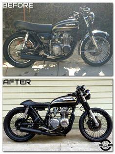 Honda CB550 #Custommade #caferacer #bratstyle #LosAngeles #Restoration #Rebuilt #HondaCB #Honda #Suzuki #Fuewellmoto