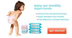 The Honest Company - diaper bundle [Free sample and then if you like it, you get monthly supplies delivered to you]