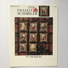 Prairie Schooler St Nicholas Cross Stitch Chart Pattern No 20 HTF OOP  | eBay