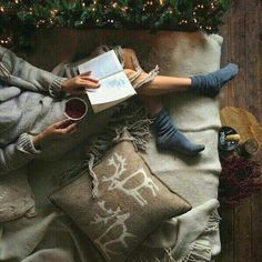 Imagen de christmas, book, and winter