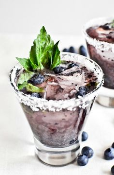 Serve up a sweet and refreshing drink recipe at your next celebration this summer! Your party guests are bound to love this unique Roasted Blueberry Basil Margarita. Add a sprig of fresh basil to each cocktail for the perfect finishing touch.