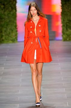 Love color trench coat