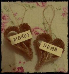 Wedding place names/ favours