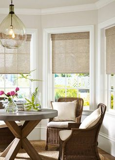 Idea For Bay Window Treatment   Molding. Also   Window Shades.