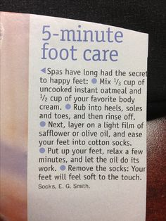 Spa foot care