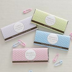 Pretty Polka Dot Personalized Candy Bar Wrappers