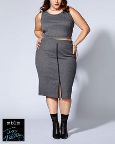 Tess Holliday - Ribbed Sleeveless Crop Top