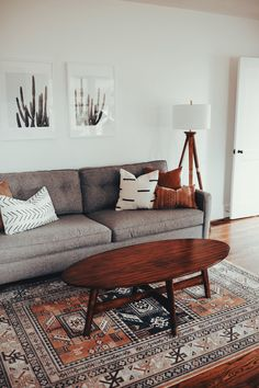 Boho Living Room, Living Room Grey, Living Room Modern, Living Room Ideas With Grey Couch, Earth Tone Living Room Decor, Budget Living Rooms, Grey Couch Decor, Cute Living Room, Modern Interior Design