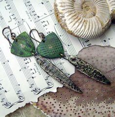 Walk in the Woodlands earrings by Anvil Artifacts