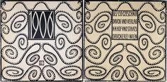 1906 (Calender). von Czeschka, Carl Otto:: k.k. Hof- und Staatsdruckerei, Vienna  - Michael Steinbach Rare Books Design Movements, Vintage Cards, Vienna, Zentangle, Doodles, Calligraphy, Painting, Art, Print Store