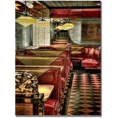 Trademark Fine Art The Diner Canvas Wall Art by Lois Bryan, Size: 18 x 24, Multicolor