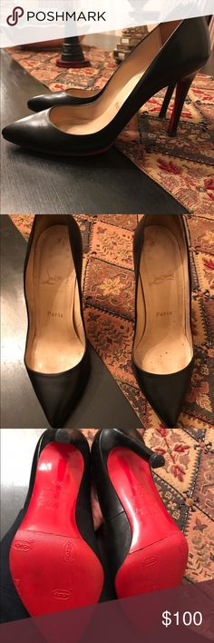 Christian Louboutin Pumps Size 36.5 heels, Amazing look a likes in good condition! Some wear but a lot of love left to them! Slight damage to the right heel but still wearable and comfortable❤️ Christian Louboutin Shoes Heels