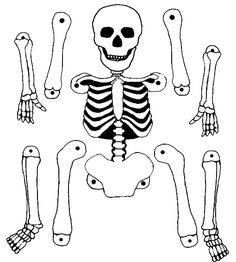 Pantin squelette A skeleton puppet to print and make for Halloween. Halloween Mono, Theme Halloween, Halloween Arts And Crafts, Halloween Decorations For Kids, Halloween Crafts For Toddlers, Holidays Halloween, Halloween Diy, Happy Halloween, Skeleton Puppet