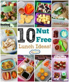 10 nut free lunch ideas