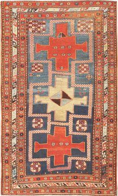 Antique Persian Kazak Rug 47066 Main Image - By Nazmiyal #antiquerugs #rugs #vintagerugs #antiquecarpets #carpets #vintagecarpets #moroccanrugs #orientalcarpets #orientalrugs #persiancarpets #persianrugs